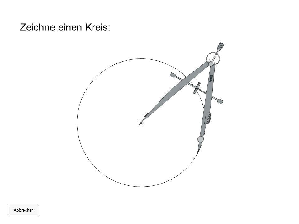 Zeichne einen Kreis: Abbrechen