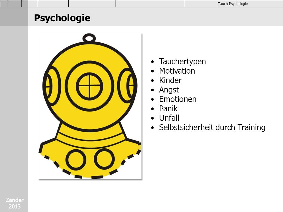 Psychologie Tauchertypen Motivation Kinder Angst Emotionen Panik