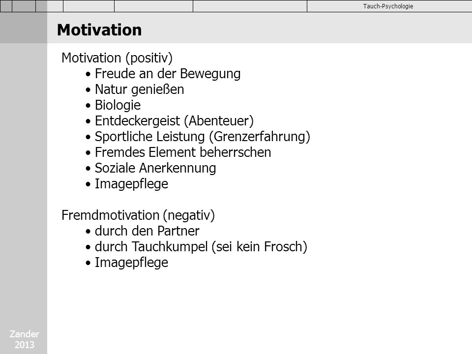 Psychologie tauchertypen motivation kinder angst emotionen for Psychologie nc liste
