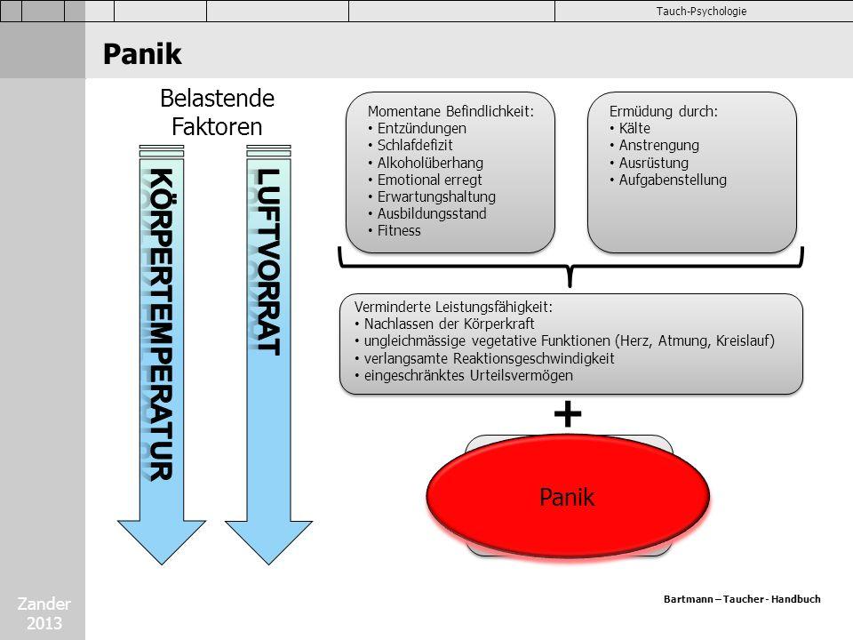 + Panik Körpertemperatur Luftvorrat Belastende Faktoren Panik