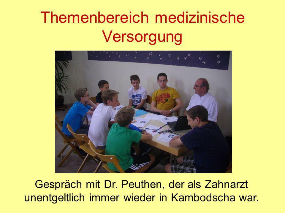Themenbereich medizinische Versorgung