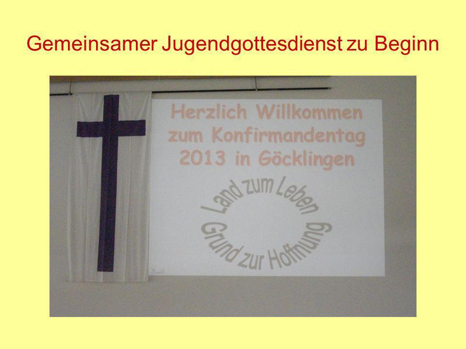 Gemeinsamer Jugendgottesdienst zu Beginn