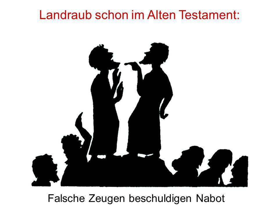 Landraub schon im Alten Testament: