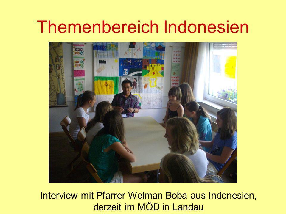Themenbereich Indonesien