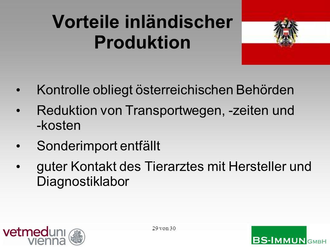 Vorteile inländischer Produktion