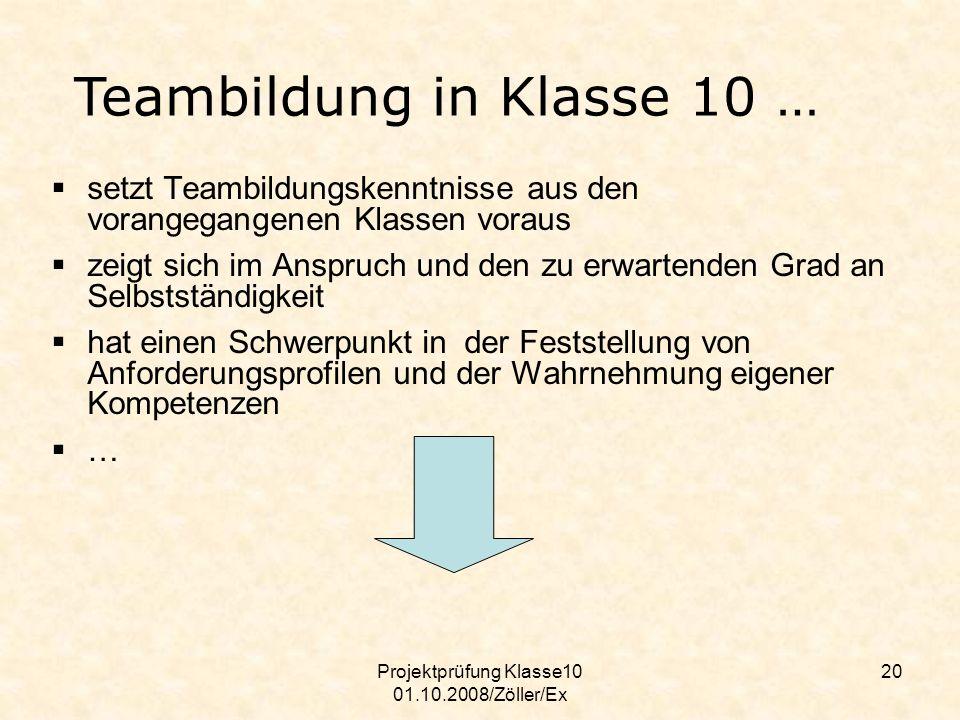 Projektprüfung Klasse10 01.10.2008/Zöller/Ex