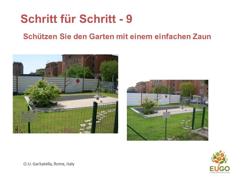 Schützen Sie den Garten mit einem einfachen Zaun