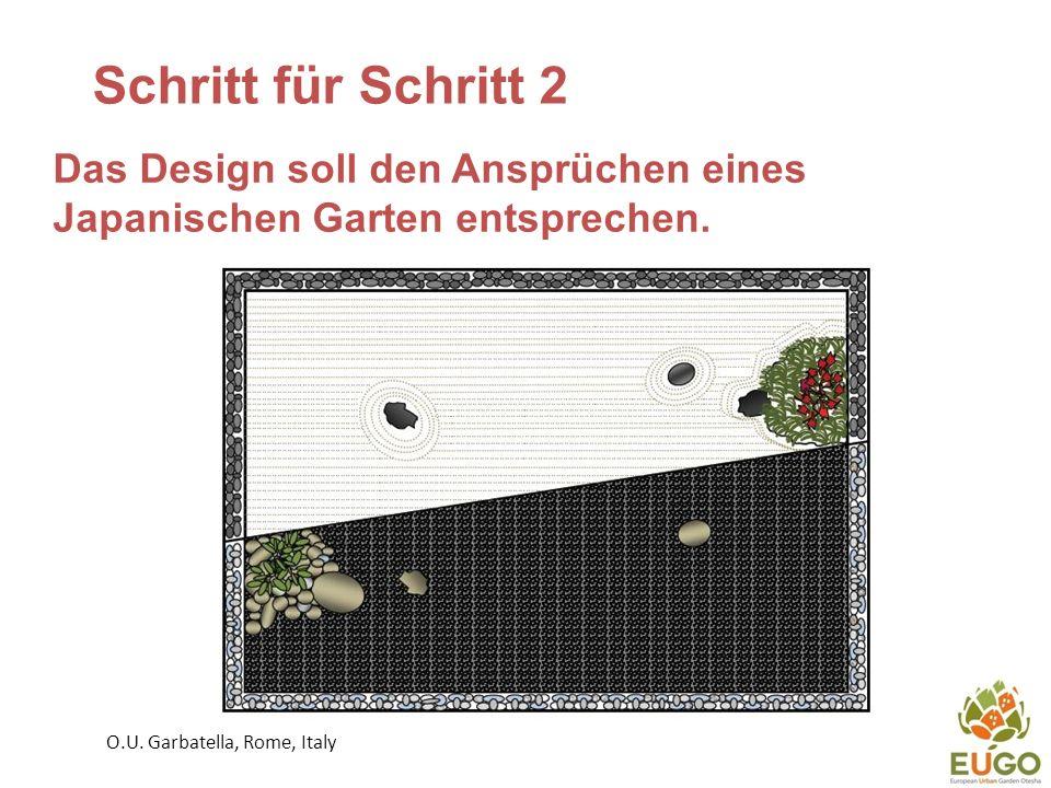 Schritt für Schritt 2 Das Design soll den Ansprüchen eines Japanischen Garten entsprechen.