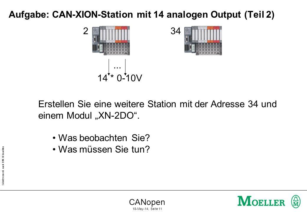 Aufgabe: CAN-XION-Station mit 14 analogen Output (Teil 2)