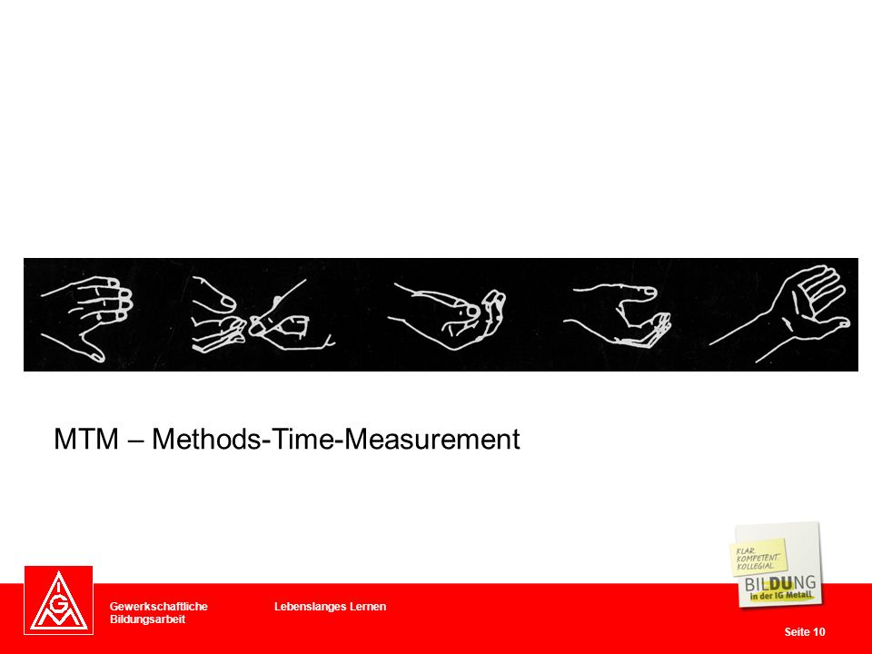 MTM – Methods-Time-Measurement
