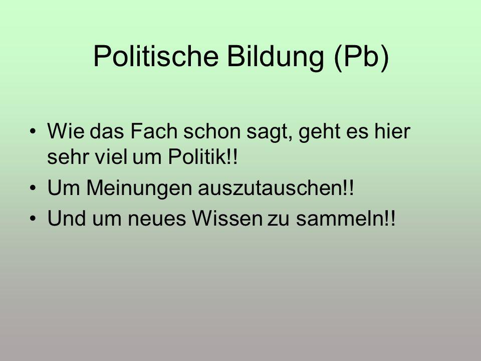 Politische Bildung (Pb)