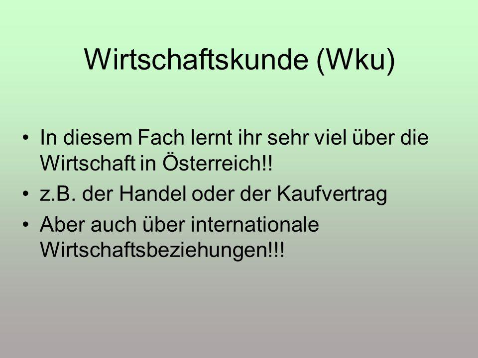 Wirtschaftskunde (Wku)