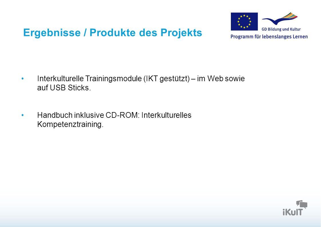 Ergebnisse / Produkte des Projekts