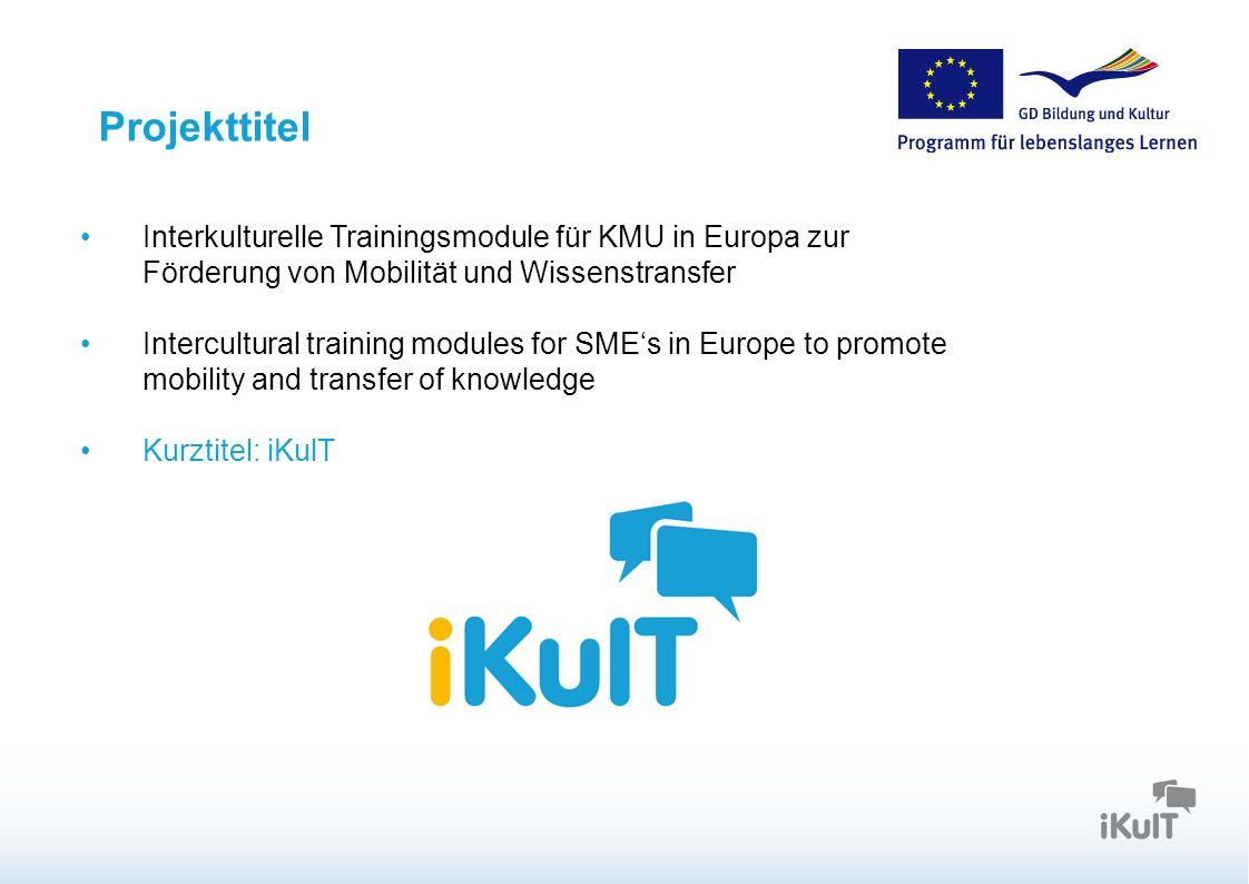 Projekttitel Interkulturelle Trainingsmodule für KMU in Europa zur Förderung von Mobilität und Wissenstransfer.