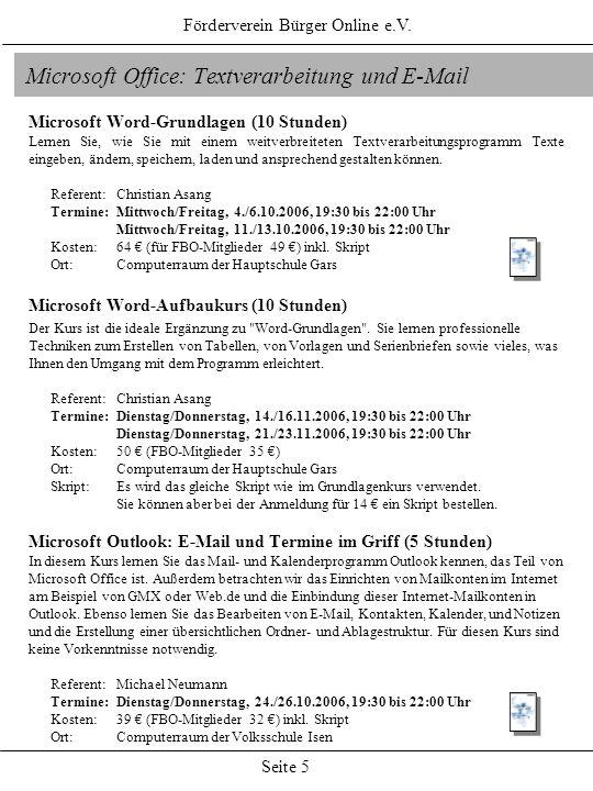 Microsoft Office: Textverarbeitung und E-Mail