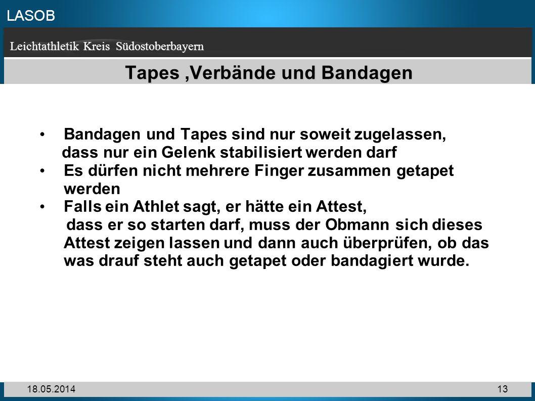 Tapes ,Verbände und Bandagen