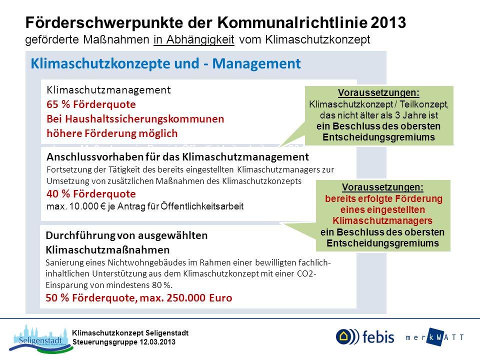 Klimaschutzkonzepte und - Management