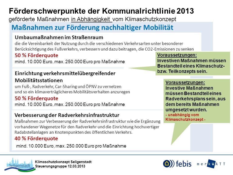 Maßnahmen zur Förderung nachhaltiger Mobilität