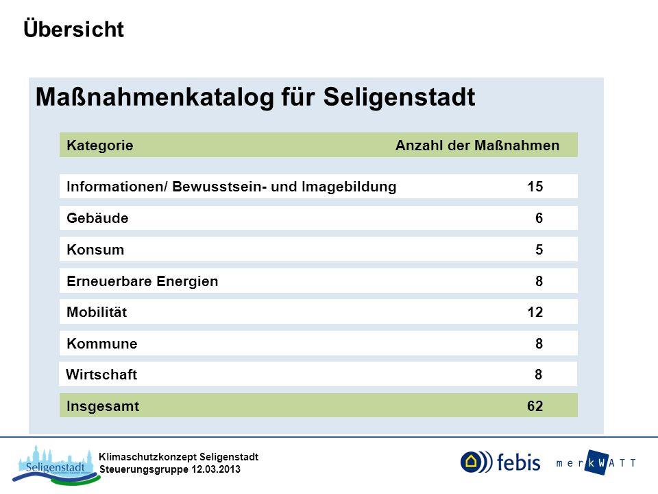 Maßnahmenkatalog für Seligenstadt