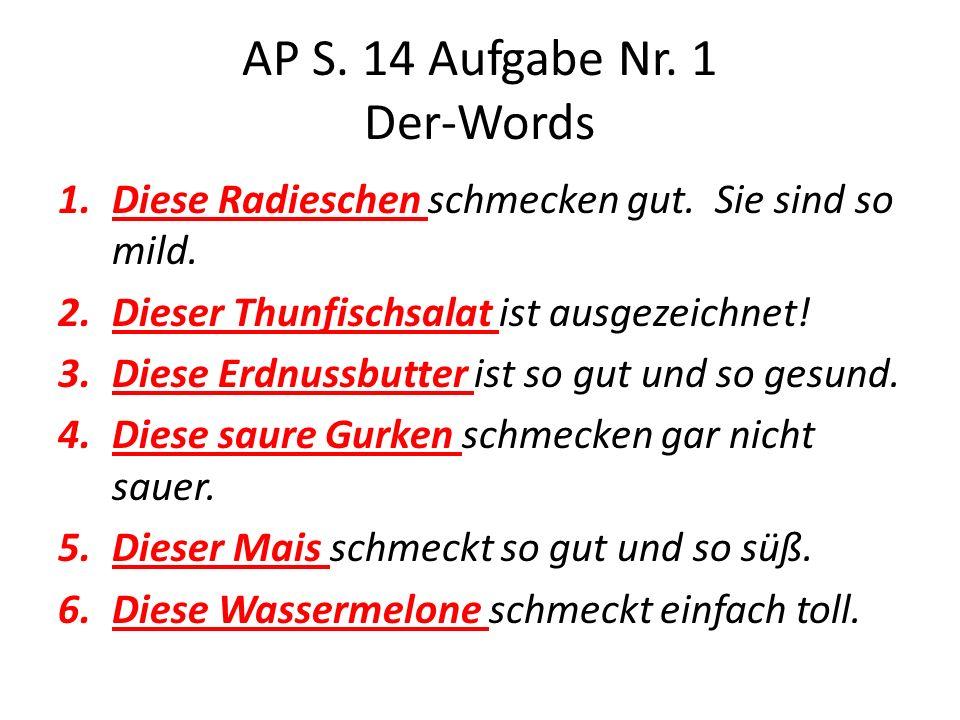 AP S. 14 Aufgabe Nr. 1 Der-Words