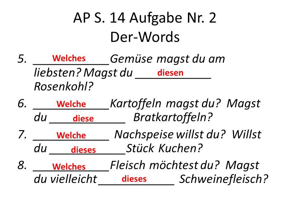 AP S. 14 Aufgabe Nr. 2 Der-Words