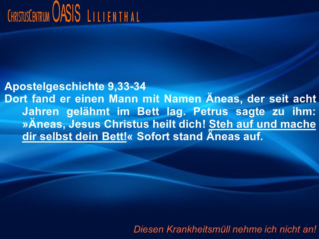 Apostelgeschichte 9,33-34