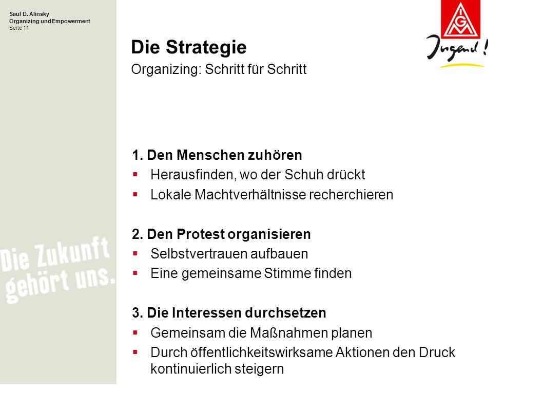 Die Strategie Organizing: Schritt für Schritt
