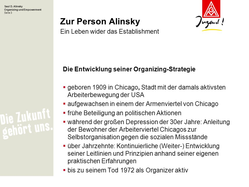 Zur Person Alinsky Ein Leben wider das Establishment