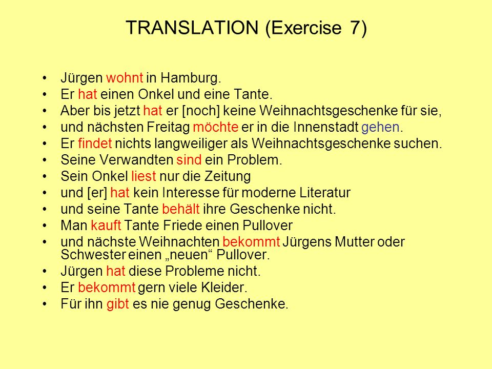 TRANSLATION (Exercise 7)