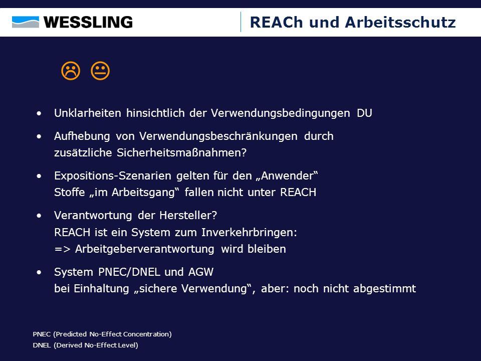 REACh und Arbeitsschutz