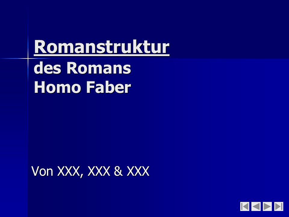 Romanstruktur des Romans Homo Faber Von XXX, XXX & XXX