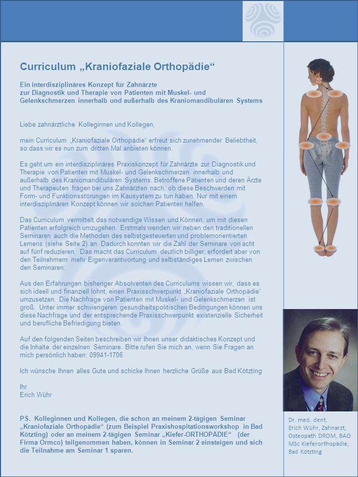"""Curriculum """"Kraniofaziale Orthopädie"""