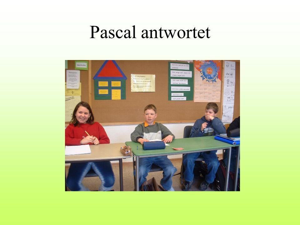 Pascal antwortet