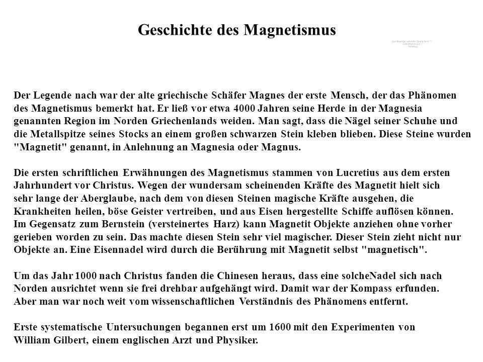 Geschichte des Magnetismus