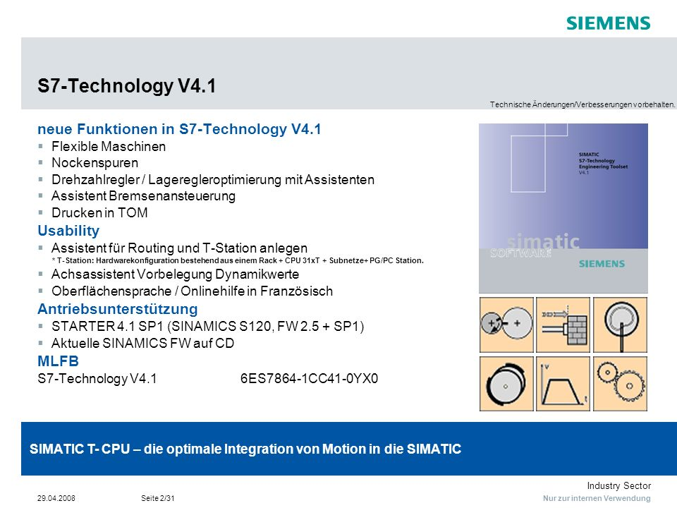 S7-Technology V4.1 neue Funktionen in S7-Technology V4.1 Usability