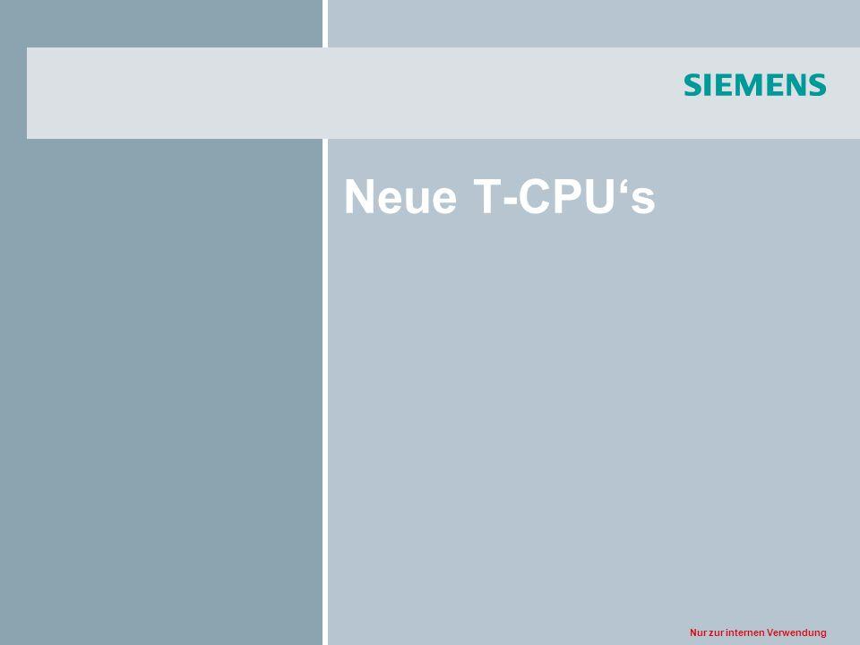 Neue T-CPU's