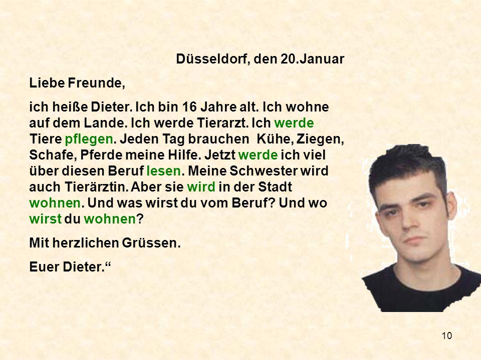 Düsseldorf, den 20.Januar Liebe Freunde,