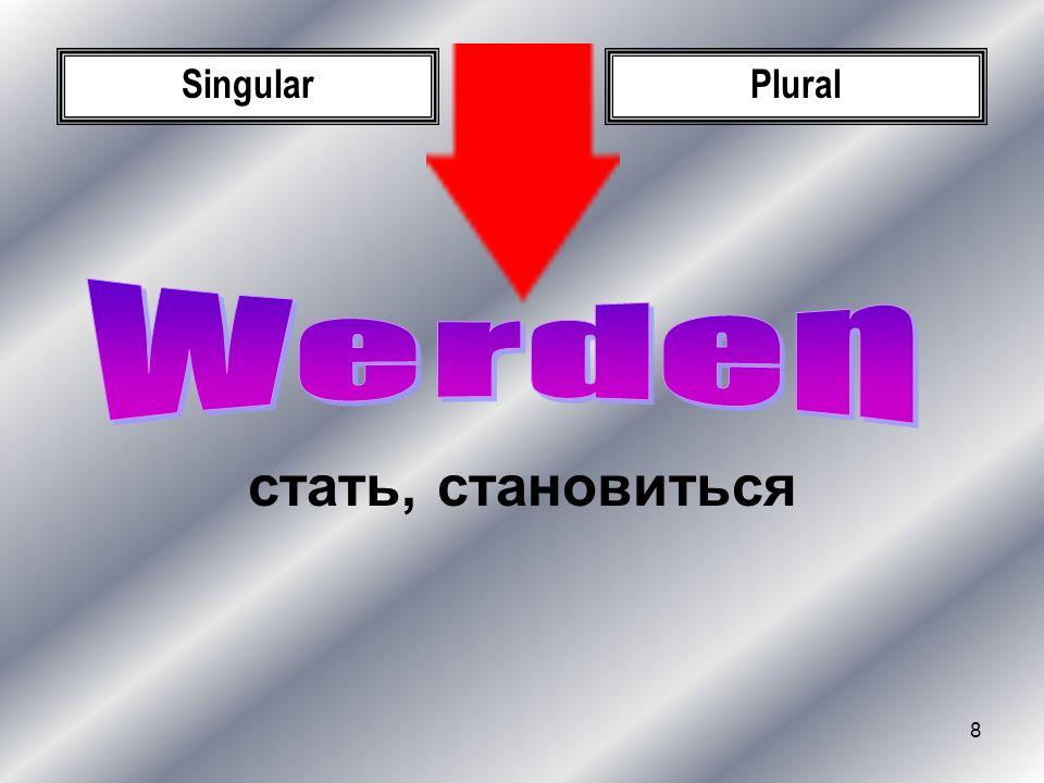 Singular Plural Werden стать, становиться