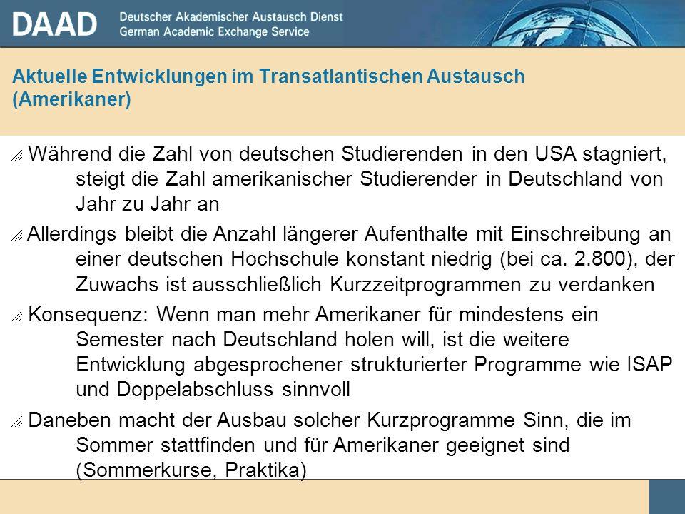Aktuelle Entwicklungen im Transatlantischen Austausch (Amerikaner)