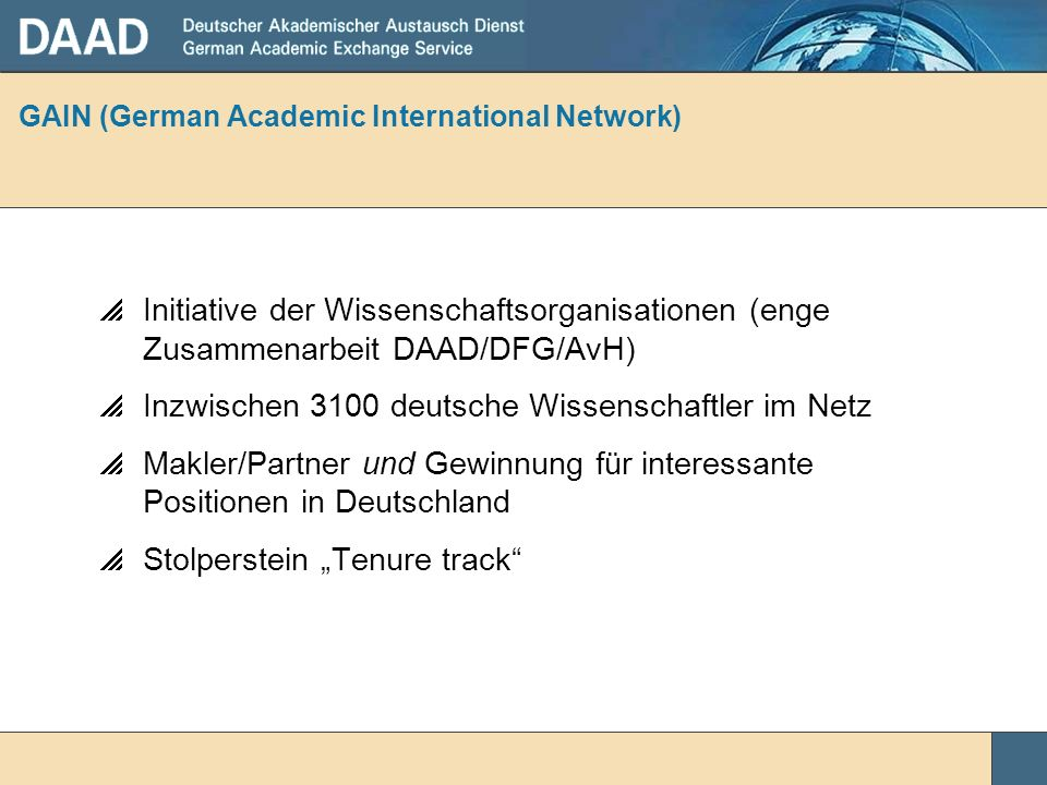 GAIN (German Academic International Network)