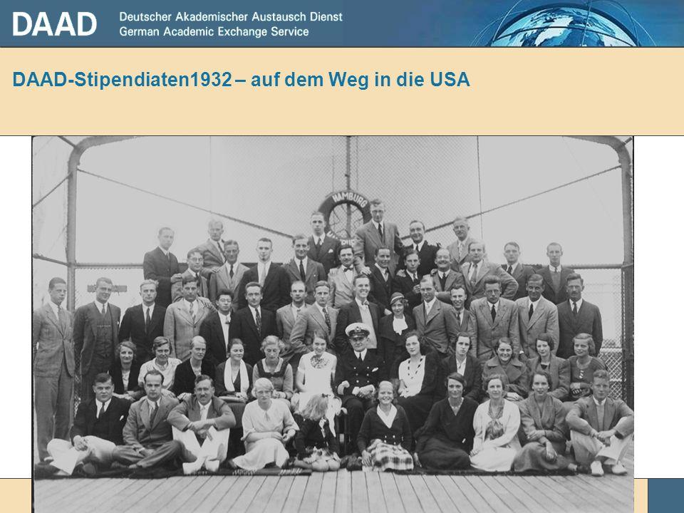 DAAD-Stipendiaten1932 – auf dem Weg in die USA