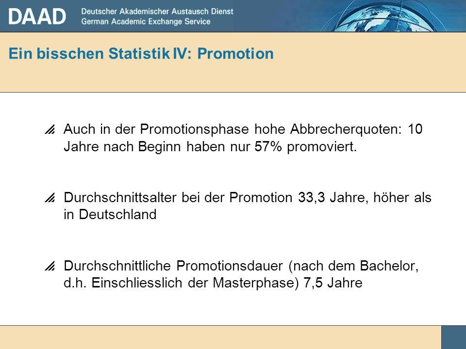 Ein bisschen Statistik IV: Promotion
