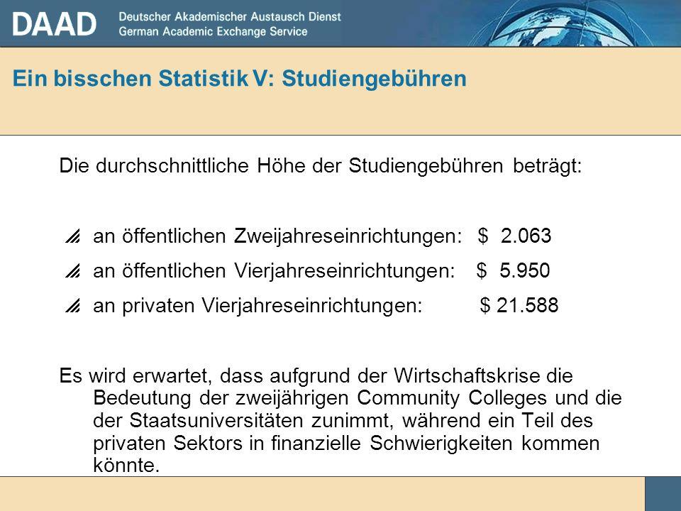 Ein bisschen Statistik V: Studiengebühren