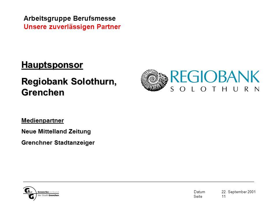 Regiobank Solothurn, Grenchen