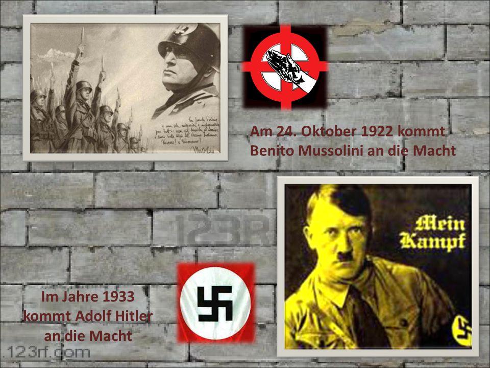 Im Jahre 1933 kommt Adolf Hitler an die Macht