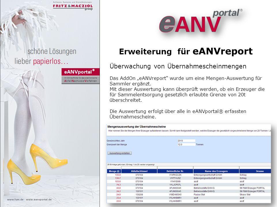 Erweiterung für eANVreport