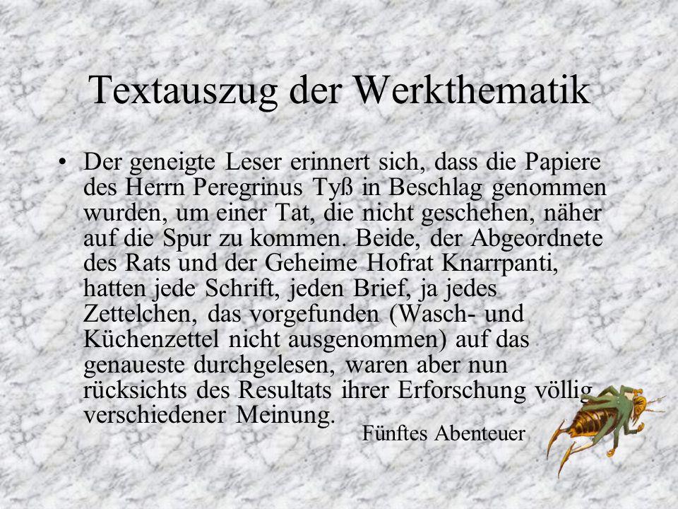 Textauszug der Werkthematik