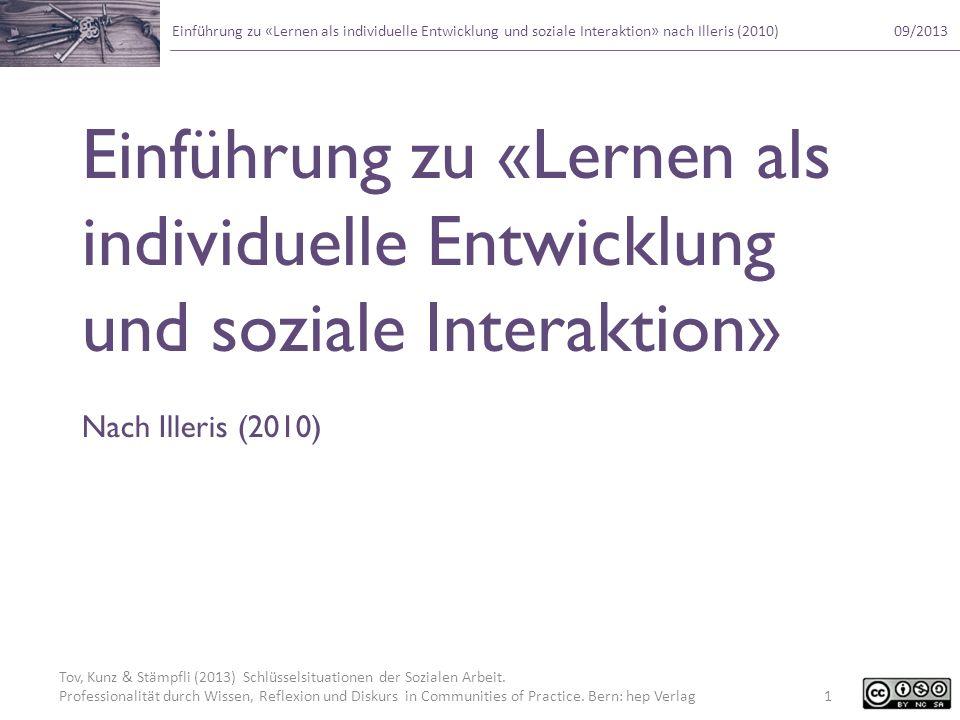 Einführung zu «Lernen als individuelle Entwicklung und soziale Interaktion»