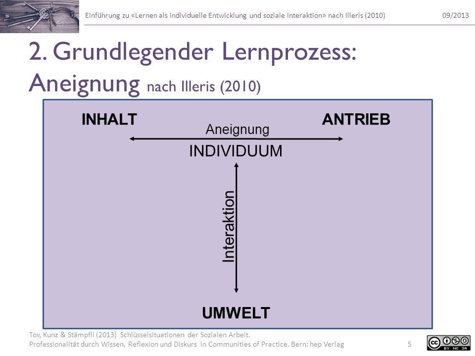 2. Grundlegender Lernprozess: Aneignung nach Illeris (2010)