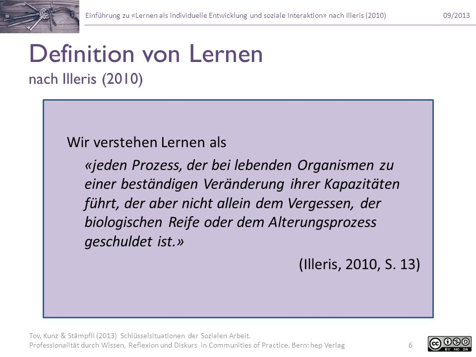 Definition von Lernen nach Illeris (2010)